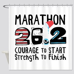 Marathon Courage Shower Curtain